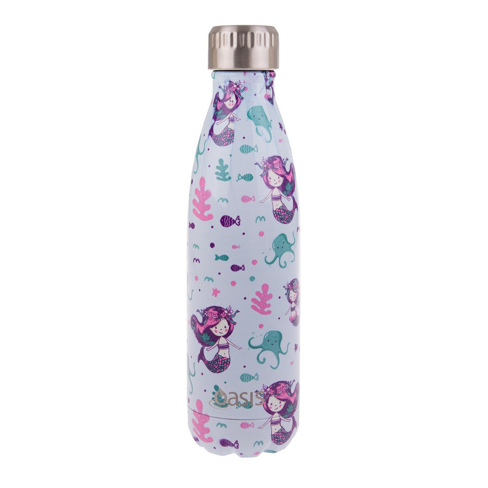 Oasis 500ml Drink Bottle Mermaid ( Double wall)