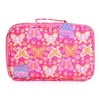 Go Green Lunch Box Set ~ Pink