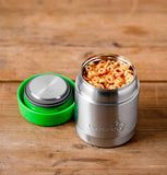 LunchBots Thermal Stainless Steel Insulated Food Jar - Green - 8 oz.