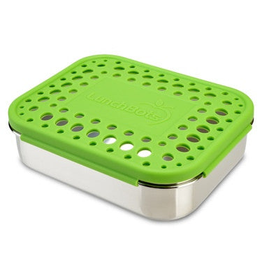 LunchBots Quad with Dots - Green