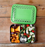 LunchBots Bento Trio Dots - Green