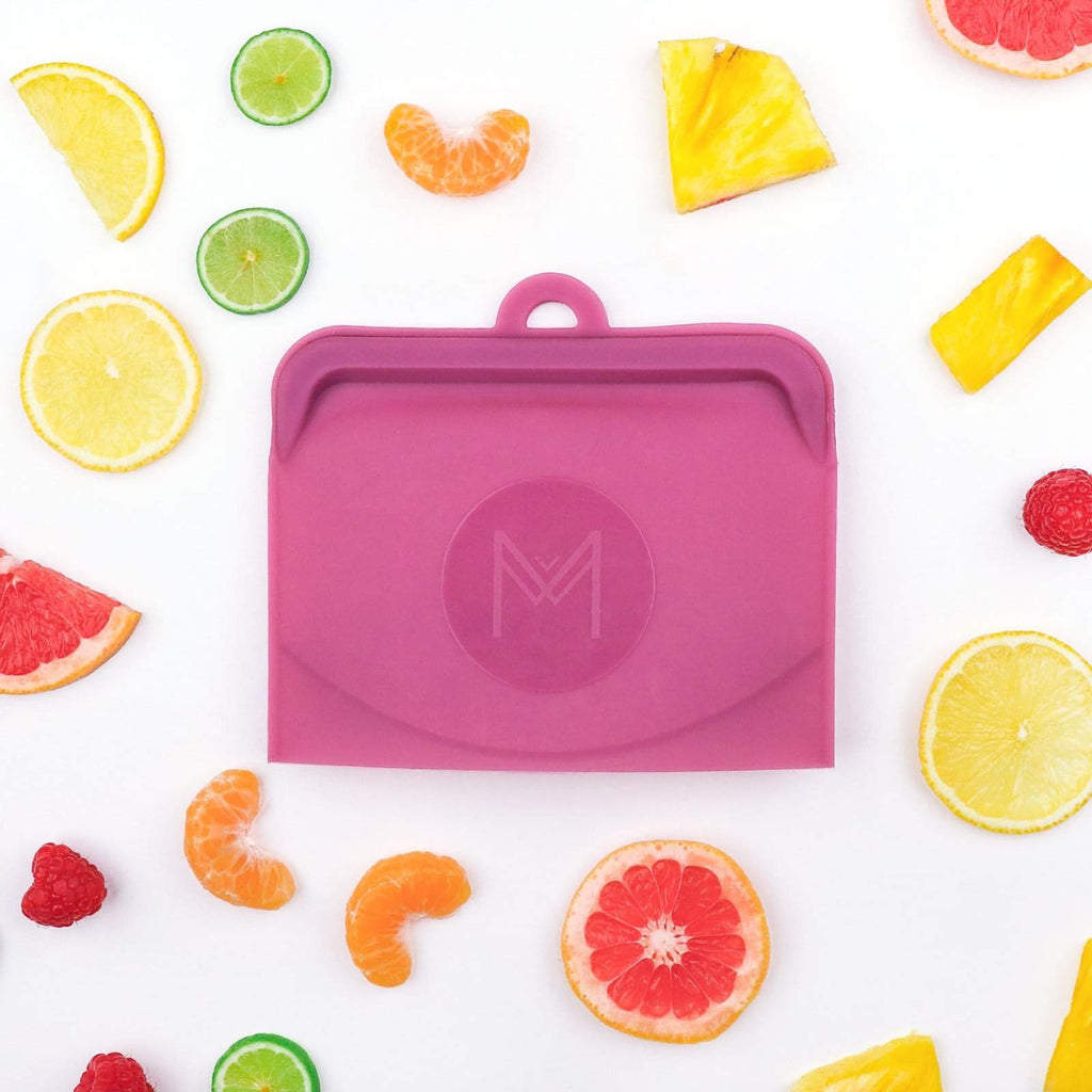 Montii Pack & Snack Silicone Food Pouch ~ Rose