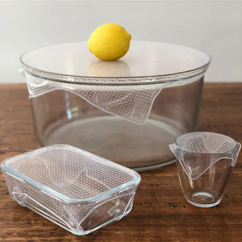 Reusable Clear Food Wrap Set Regular