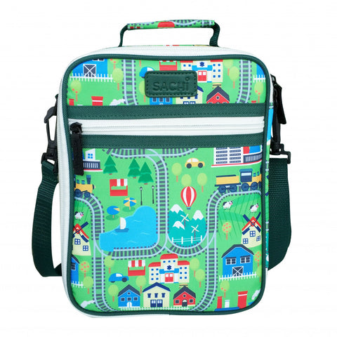 Sachi Insulated Kids Lunch Tote Brick CITY