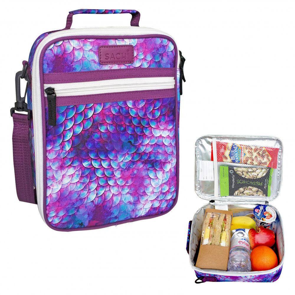 Sachi Insulated Kids Lunch Tote Brick Dragon Scales