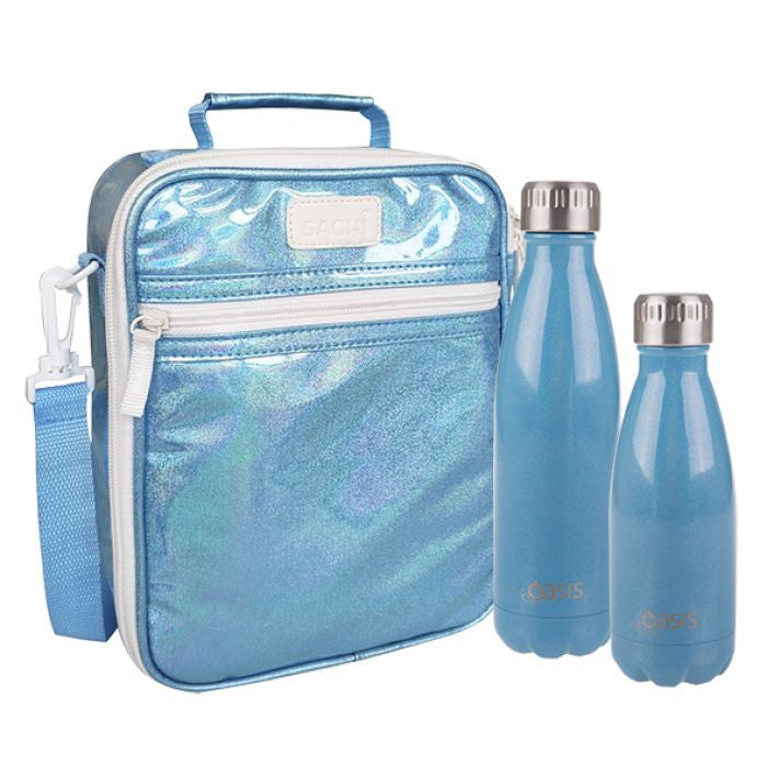 Sachi Insulated Lunch Bag Turquoise Lustre