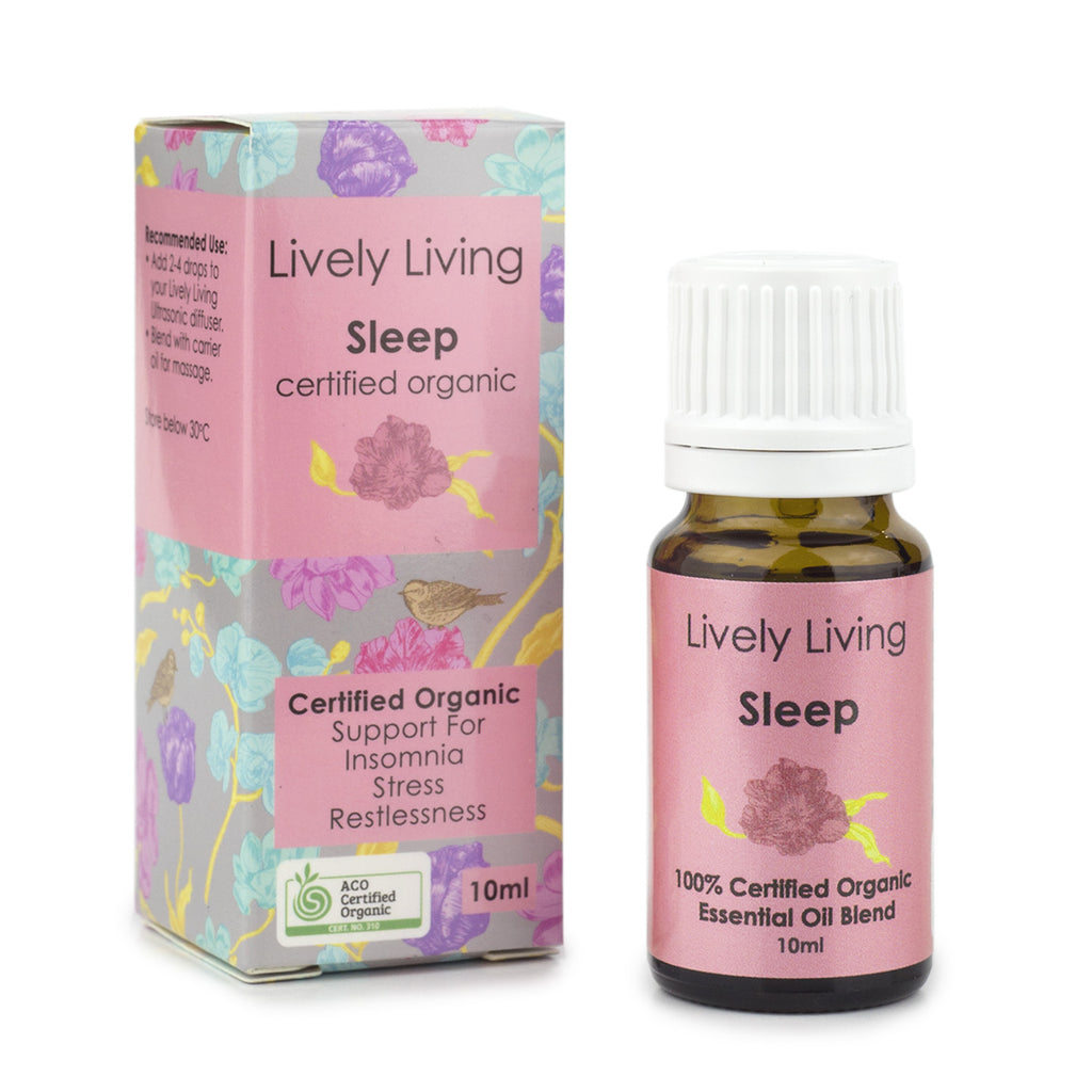 Lively Living-100% Certified Organic Essential Oil Blend - Sleep Certified 10ml