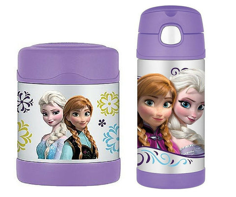 Thermos Funtainer Frozen Insulated Food Jar & Water bottles Combo Value Set