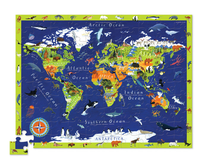 Crocodile Creek Discover The World 100Piece Puzzle & Play Sets