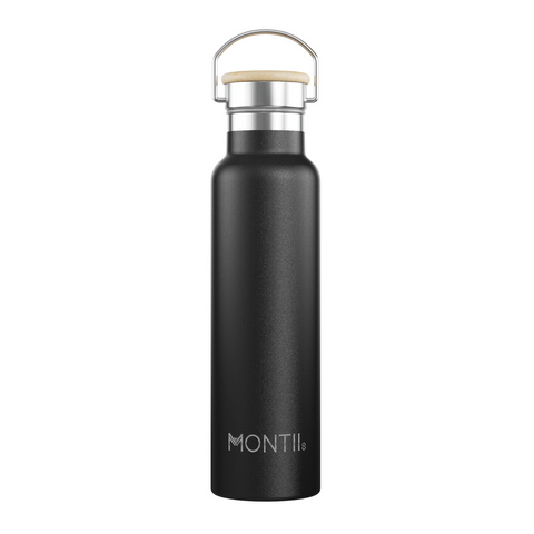 Montii Co Mega Insulated Drink Bottle 1L ~ Black