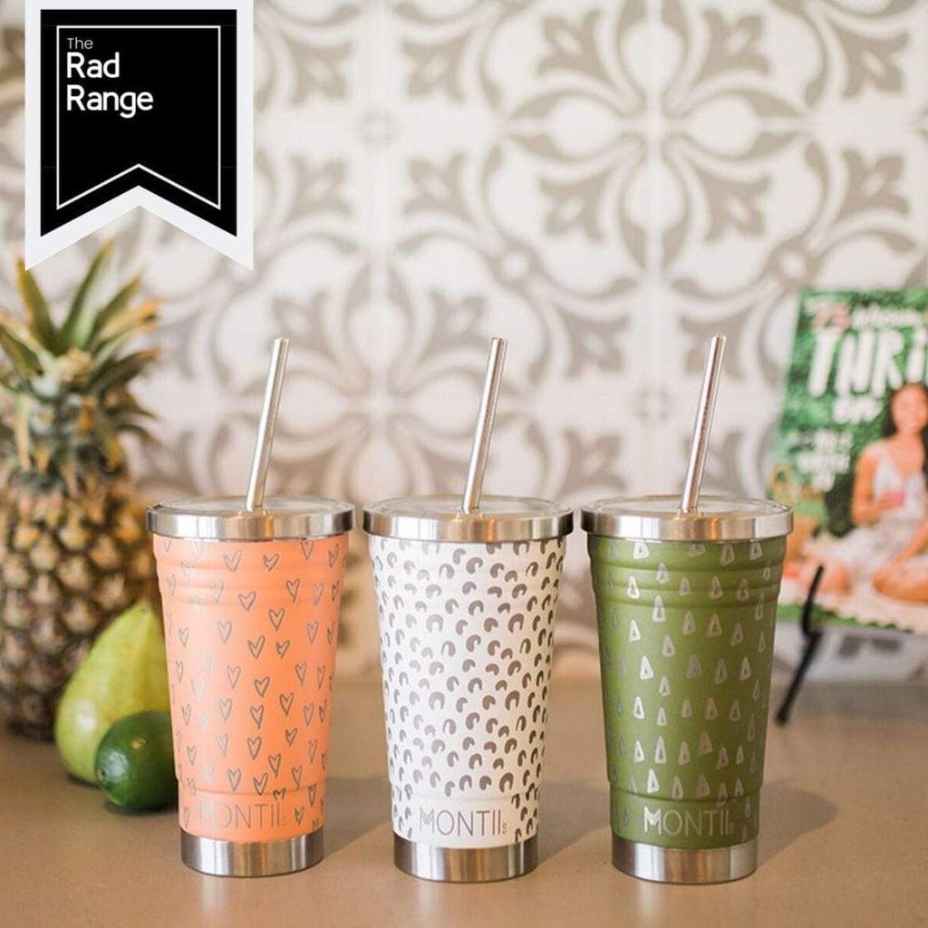 Montii Smoothie Cup ~ White Leopard Print