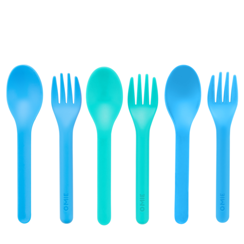 OmieLife ~ Fork & Spoon Set (NEW) ( 2 colour choice)