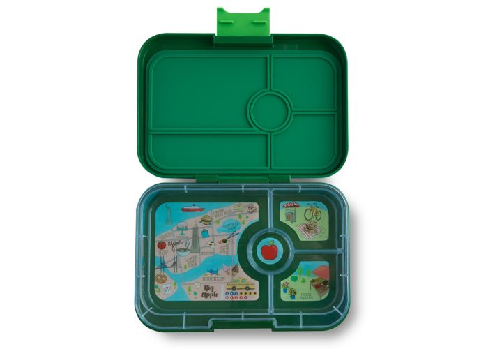 Yumbox Tapas (4 compartment) ~ Brooklyn Green ( NEW )