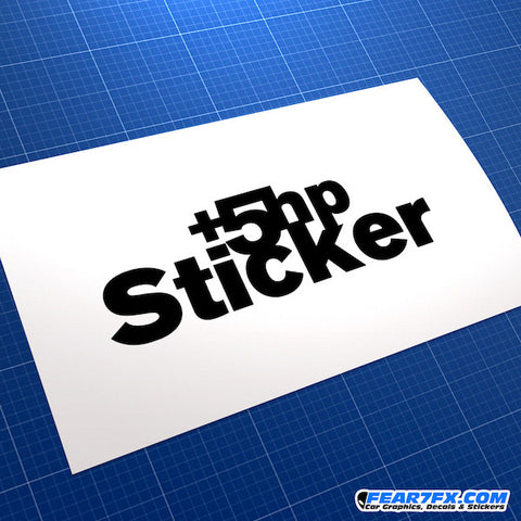 +5HP Horsepower JDM Car Vinyl Decal Sticker