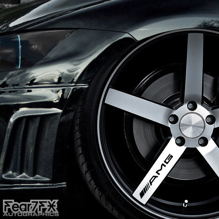 5x AMG Alloy Wheel Vinyl Transfer Decals