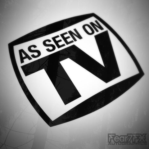 As Seen On TV Funny Euro Vinyl Decal Sticker