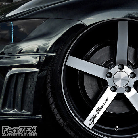 5x Alfa Romeo Alloy Wheel Decals