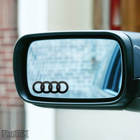 2x Audi Rings Wing Mirror Vinyl Transfer Decals