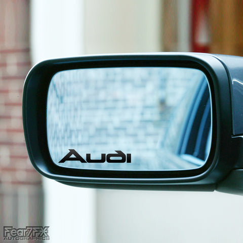 2x Audi Wing Mirror Vinyl Transfer Decals