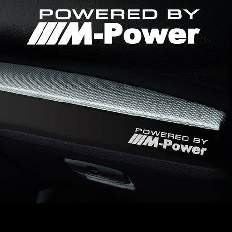 2x MPower Dashboard Powered By Vinyl Decal