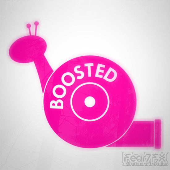 Boosted Snail Funny Euro Decal Sticker