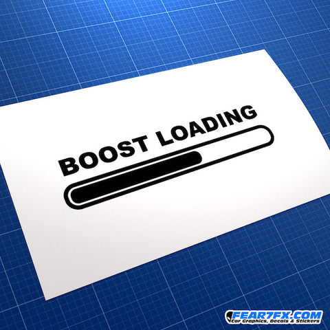 Boost Loading JDM Car Vinyl Decal Sticker
