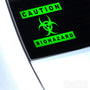 Caution Biohazard Funny Euro Decal Sticker