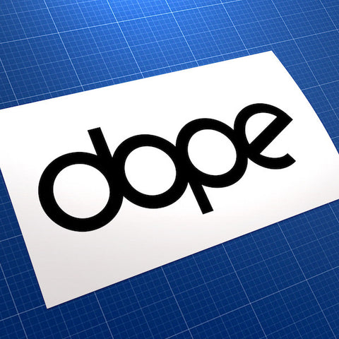Dope JDM Car Vinyl Decal Sticker