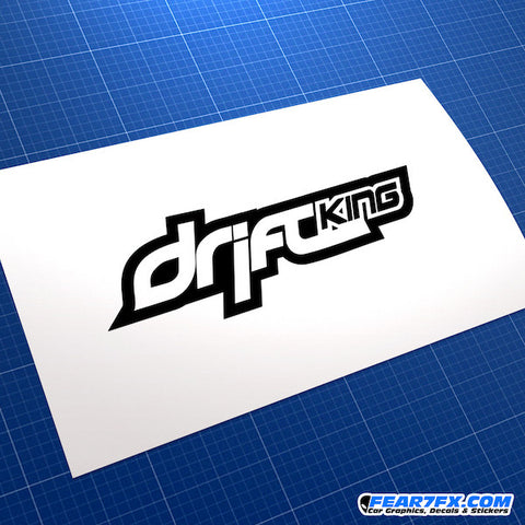 Drift King Race Car JDM Car Vinyl Decal Sticker V2