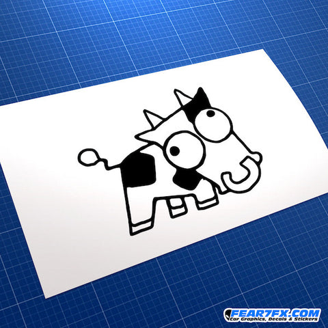 Drift Cow JDM Car Vinyl Decal Sticker