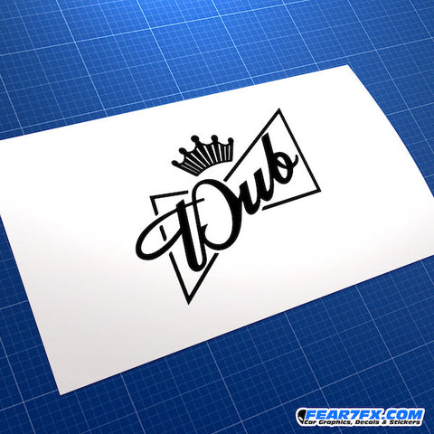 Dub King JDM Car Vinyl Decal Sticker