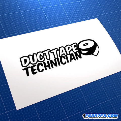 Duct Tape Technician Funny JDM Car Vinyl Decal Sticker