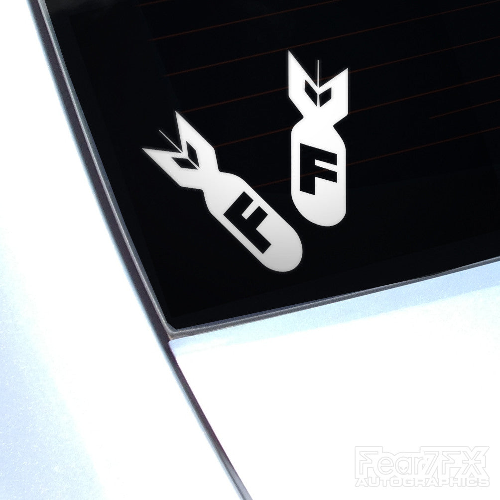 Copy of F Bombs JDM Euro Decal Sticker V2