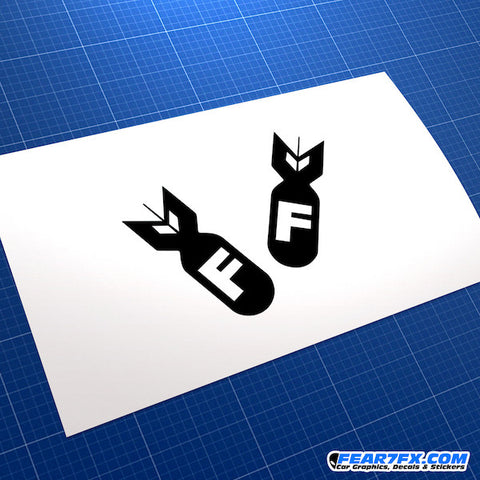 F-Bombs FBombs JDM Car Vinyl Decal Sticker
