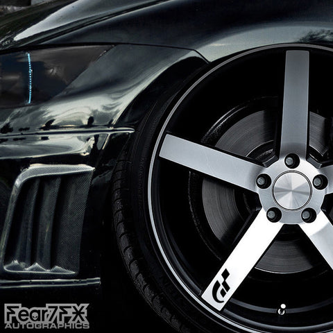 5x Gran Turismo Alloy Wheel Transfer Decals