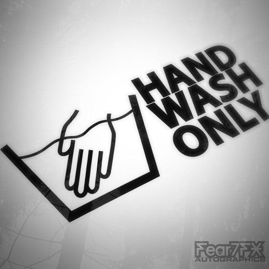 Hand Wash Only Funny JDM Euro Decal Sticker