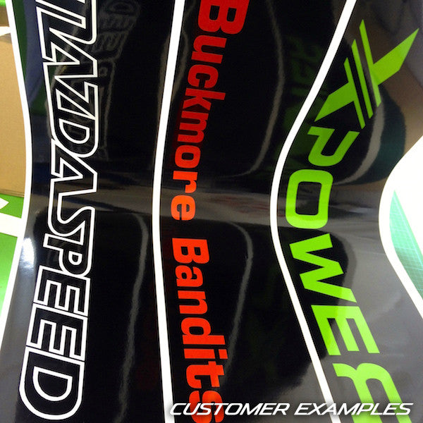 Motorsport Vinyl Windscreen SunStrip Any 2 Colours