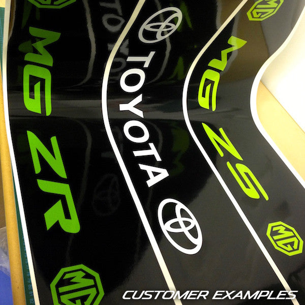 MGZS Vinyl Windscreen SunStrip Any 2 Colours