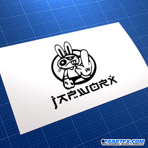 Japworx Jap Race Bunny Car Vinyl Decal Sticker