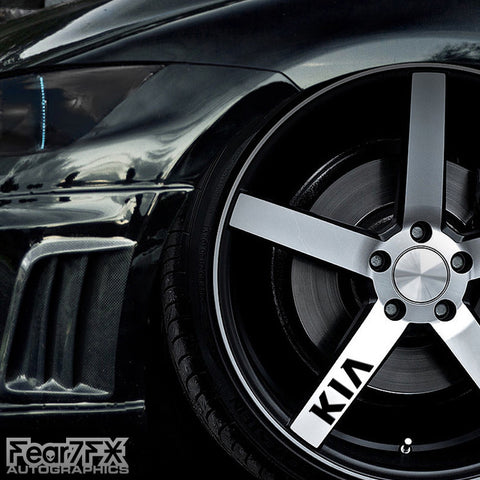 5x KIA Alloy Wheel Vinyl Transfer Decals