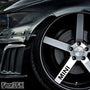 5x MINI Alloy Wheel Vinyl Transfer Decals