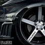 5x Mitsubishi Alloy Wheel Vinyl Transfer Decals