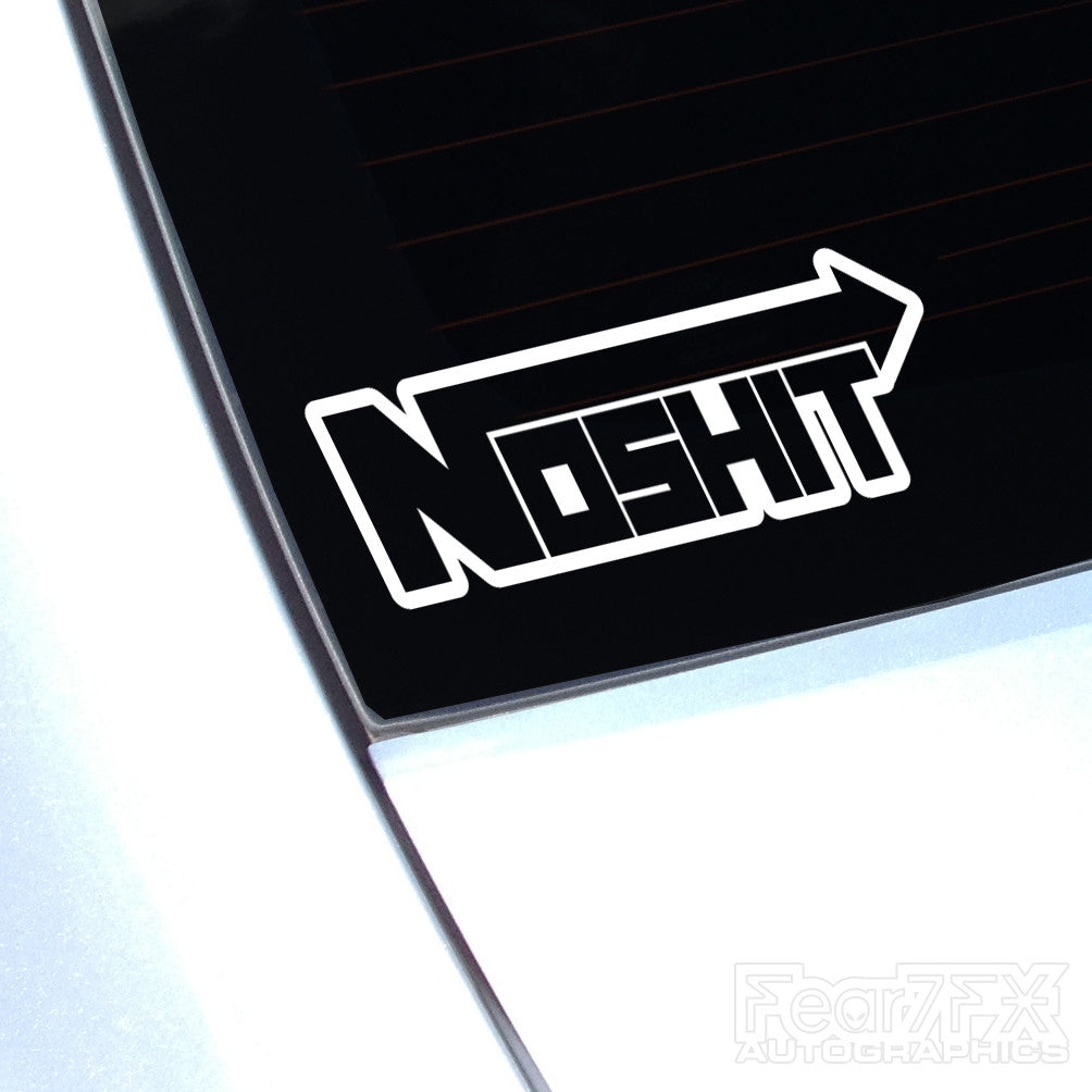 NOSHIT Funny NOS Boost Turbo Decal Sticker V2