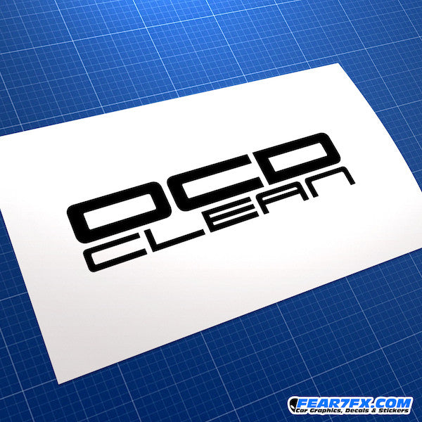 OCD Clean JDM Car Vinyl Decal Sticker