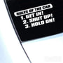 Rules Of The Car Funny JDM Car Vinyl Decal Sticker