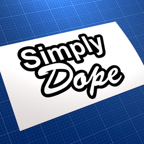 Simply Dope JDM Car Vinyl Decal Sticker