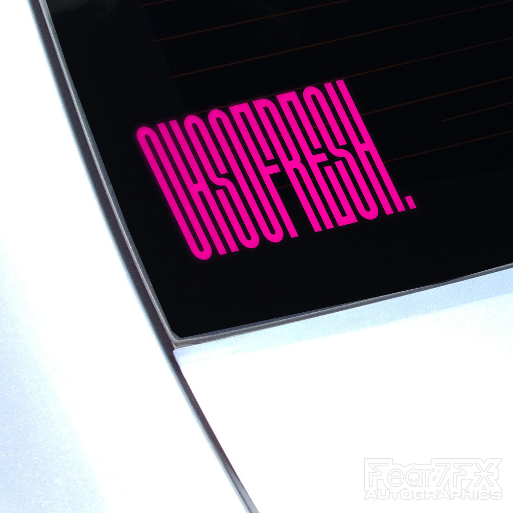 Oh So Fresh OCD Clean Freak JDM Euro Decal Sticker
