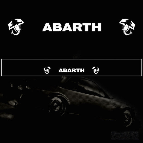 Abarth Vinyl Windscreen SunStrip Any 2 Colours