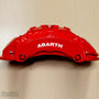 5x Abarth V2 Brake Caliper Vinyl Transfer Decals
