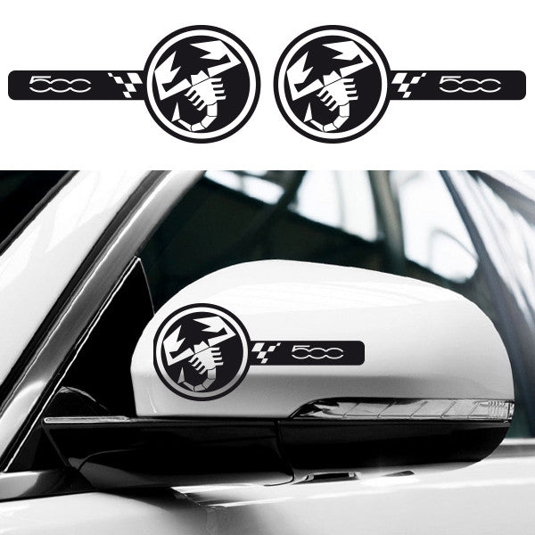 2x Abarth Custom Wing Mirror Vinyl Transfer Decals